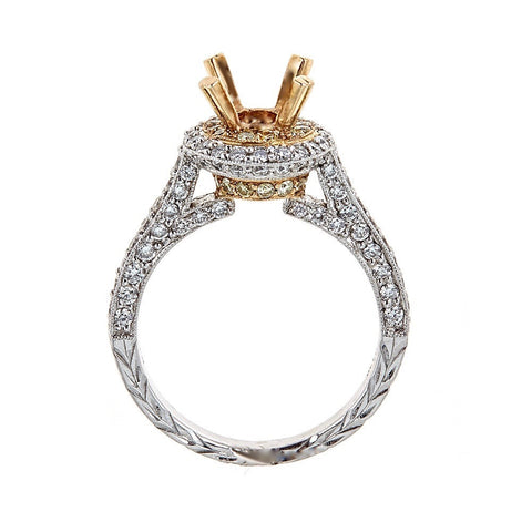 Natalie K. 14K Two-Tone Engagement Ring