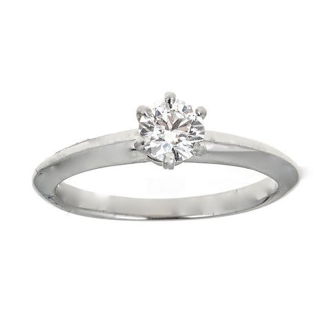 SixProng Solitaire Engagement Ring in Platinum Damati Fine Jewelry