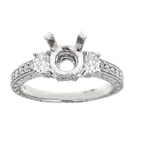 Natalie K. 14K White Gold & Diamond Engagement Ring