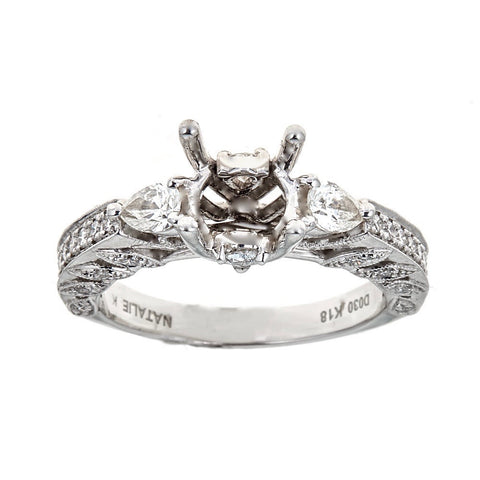 Natalie K. 18K White Gold & Diamond Engagement Ring
