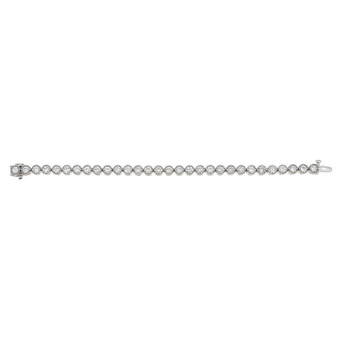 14K White Gold & Diamond Tennis Bracelet