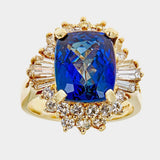 Tanzanite & Diamond 14K Yellow Gold Ring