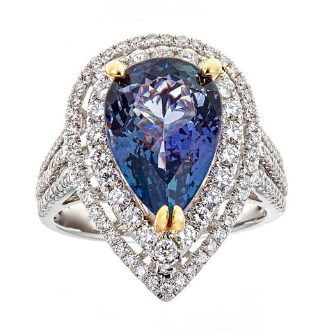 Tanzanite & Diamond 14K White Gold Ring