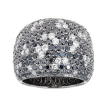 Zoccai Black & White Diamond 18K White Gold Ring