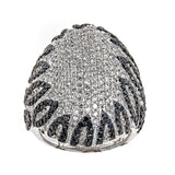 Natalie K. Black & White Diamond 14K White Gold Ring