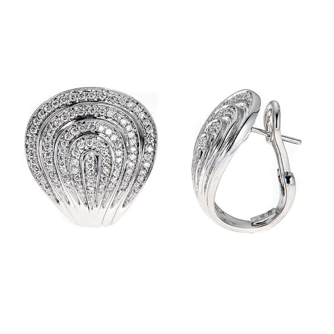Roberto Coin 18K White Gold & Diamond Earrings