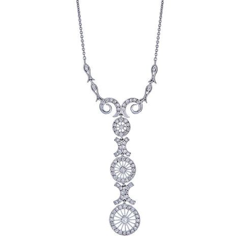 18k White Gold and Diamonds Necklace