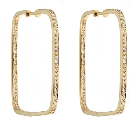 18K Yellow Gold & Diamond Earrings