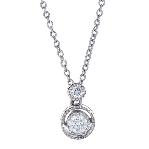 Tacori 18K White Gold Diamond Necklace