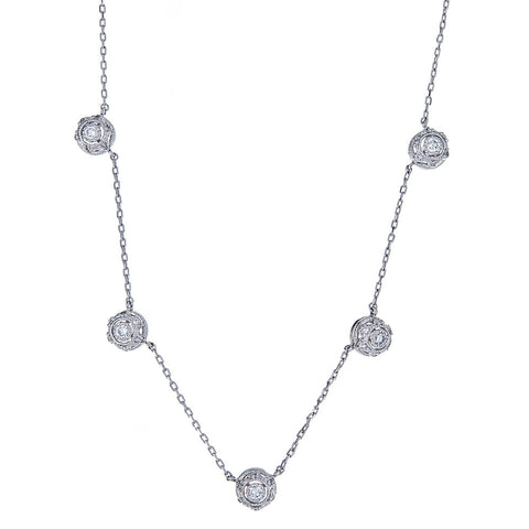 w the platinum diamond hamond three products necklace graduated stone