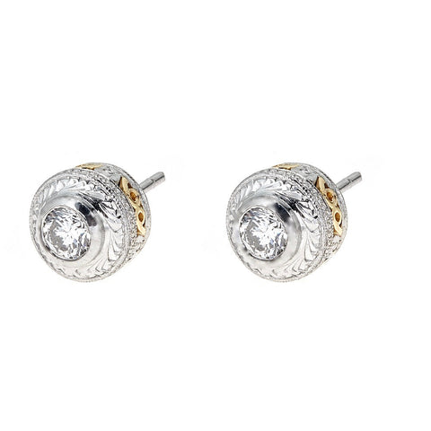 Tacori Platinum & Diamond Earrings