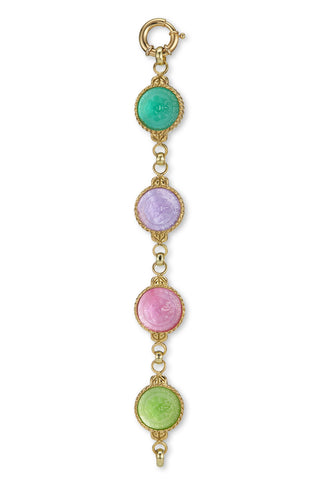 Multi-Colored Bracelet in 18K Yellow Gold