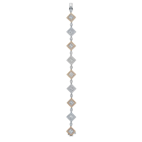 Natalie K Diamond Bracelet in Platinum & 18K Rose Gold
