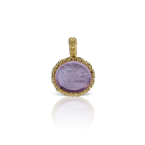 Lavender Pendant in 18K Yellow Gold