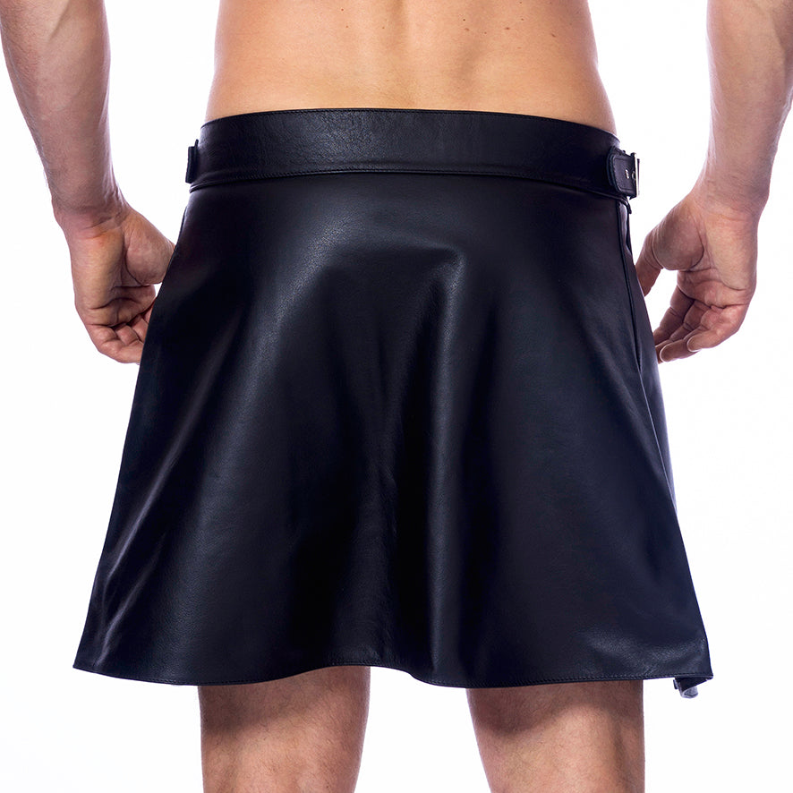 Mens Leather Skirt Kilt