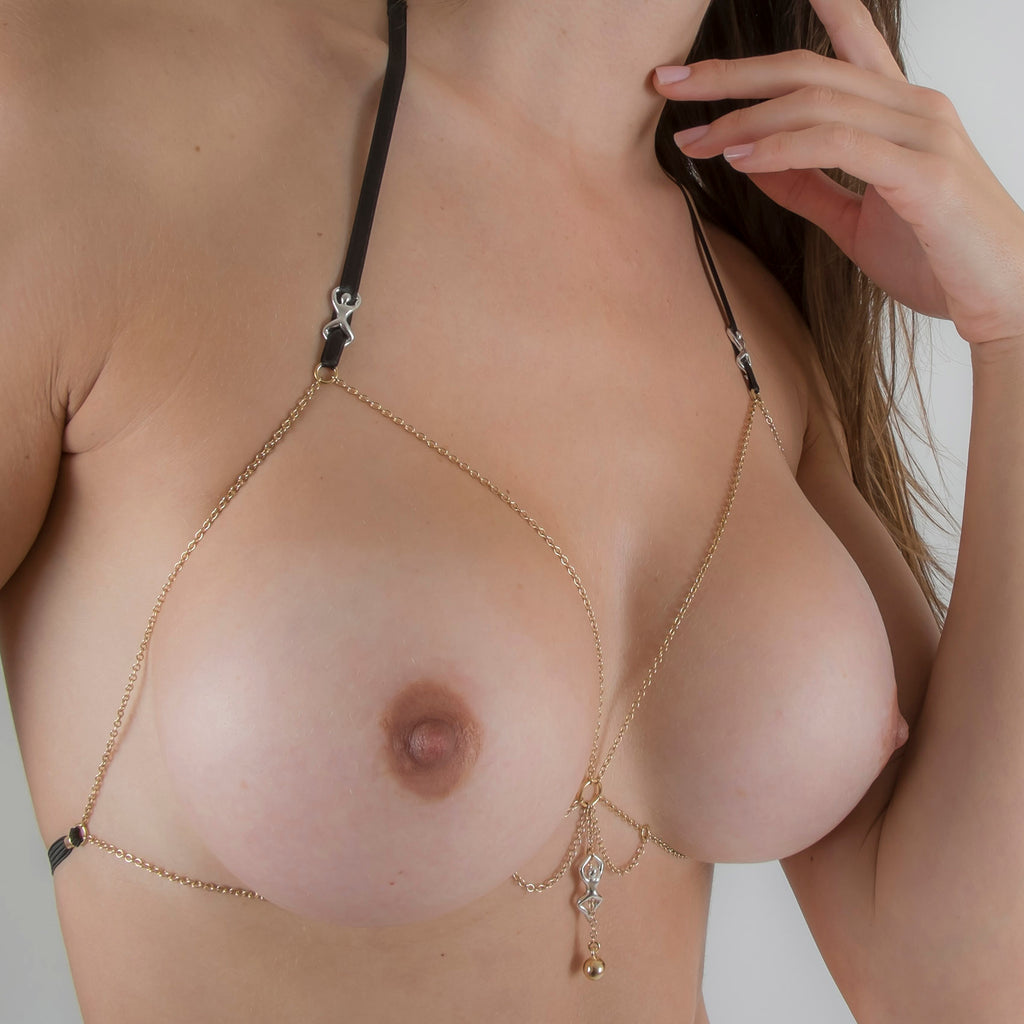 Women's Impatient Desire Breast Chain with Pendant
