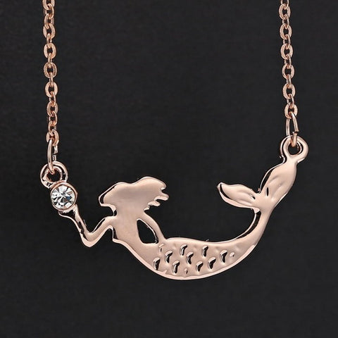 Rose Gold Mermaid Necklace