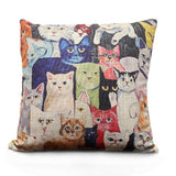 Funny cat cushion cover