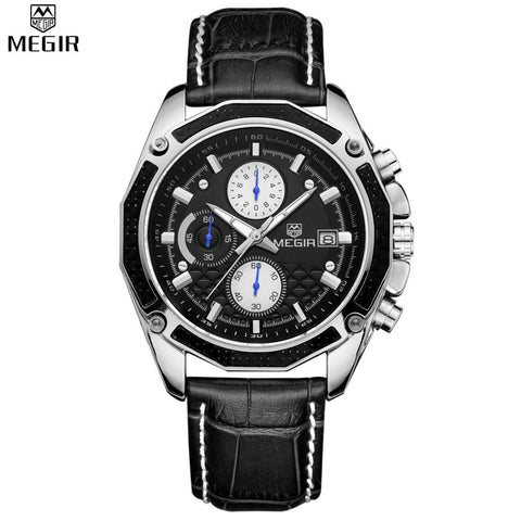 Megir Leather Quartz Watches