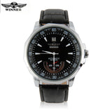 Winner Leather Mechanical Men's Watches