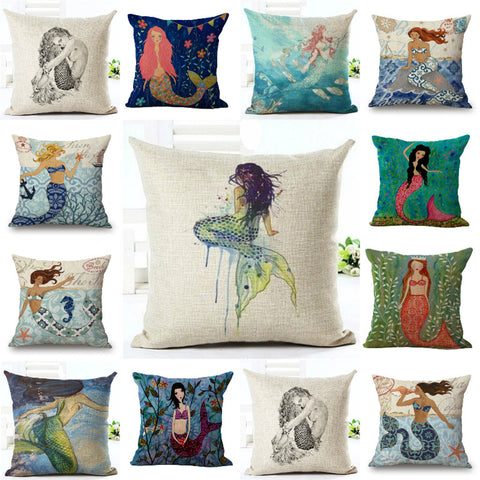 Beautiful Mermaid Pillow Cover