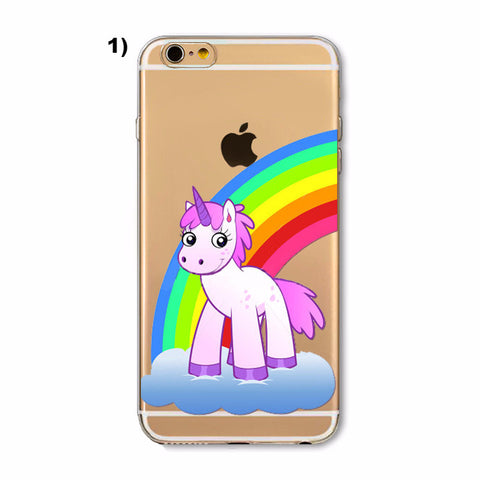 Cartoon Unicorn iPhone Cases