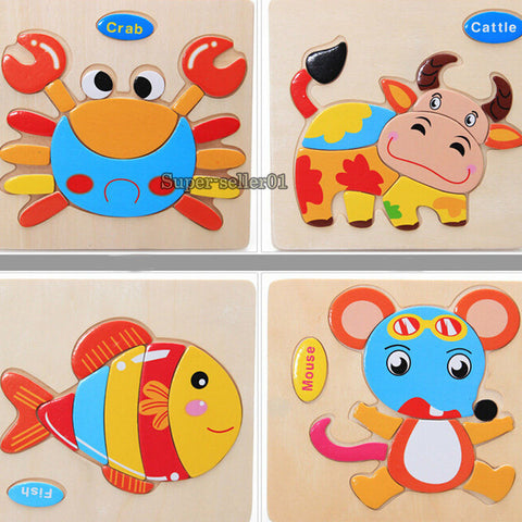 Wooden Animals Jigsaw