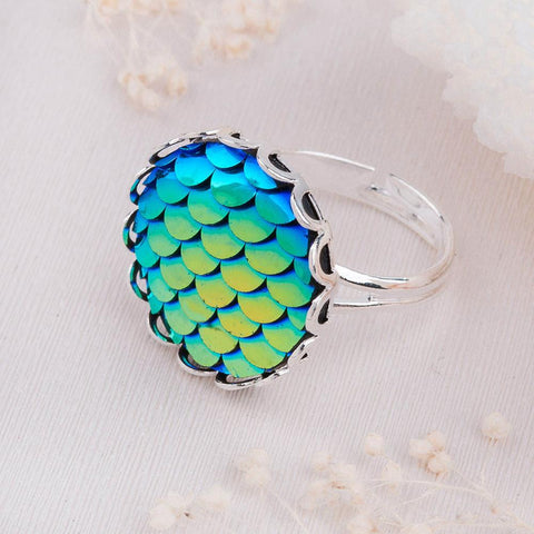 Handmade Mermaid Scales Ring