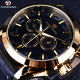Forsining Retro Golden Mechanical Watches
