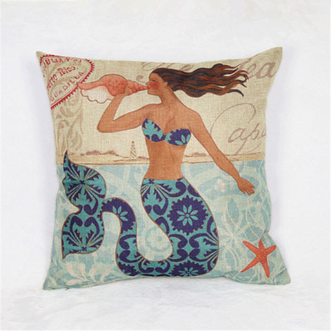 Luxury Mermaid Style Cushion Cover
