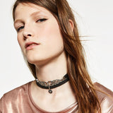 Double Layer Gothic Choker