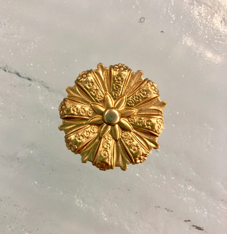 "1"" Vintage Gold Mirror Rosettes"