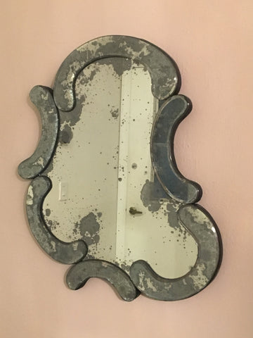 Vintage His and Hers Artisan Antique Mirrors