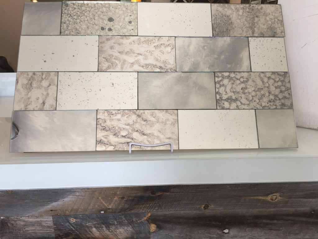Grey Mixed Set of Antique Mirror Tiles
