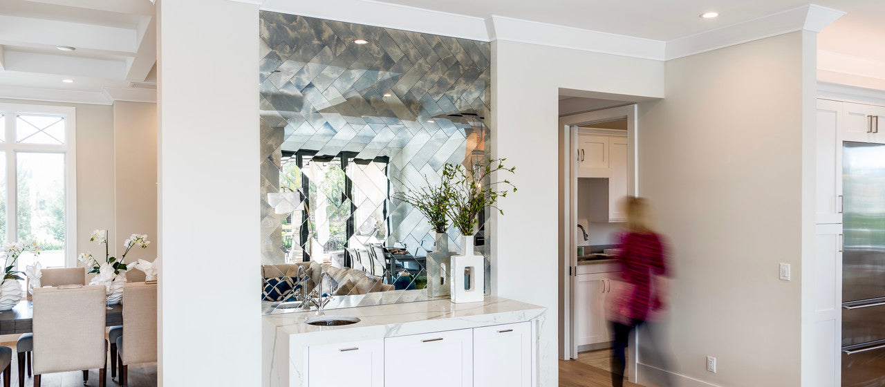 antique mirror herringbone