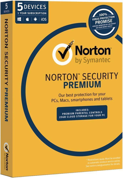 Norton Security Premium 3.0 25GB AU 1 User 5 Devices 12 Month Subscription Email Key 21353828 SYMANTEC Software Security Software