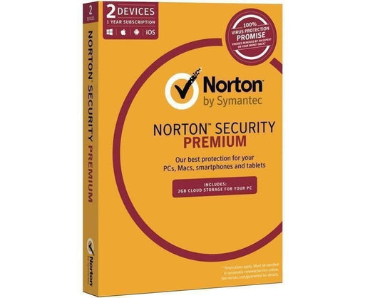Norton Security Premium 3.0 2GB AU 1 User 2 Device 12 Month Subscription Email Key 21353910 SYMANTEC Software Security Software
