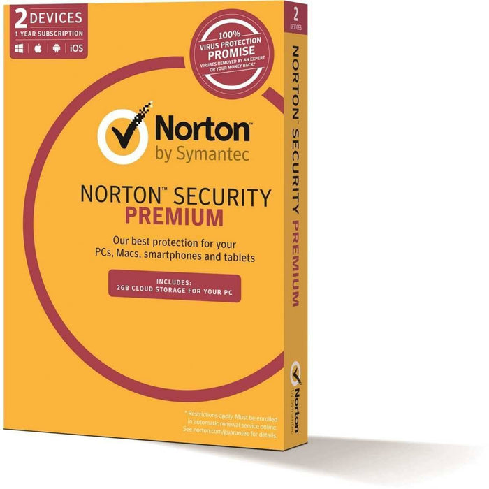 Norton Security Premium 3.0 2GB AU 1 User 2 Device 12 Month Subscription Email Key - TechTide