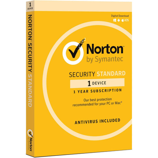 Norton Security Standard 3.0 AU 1 User 1 Device 12 Month Subscription Email Key 21369638 SYMANTEC Software Security Software
