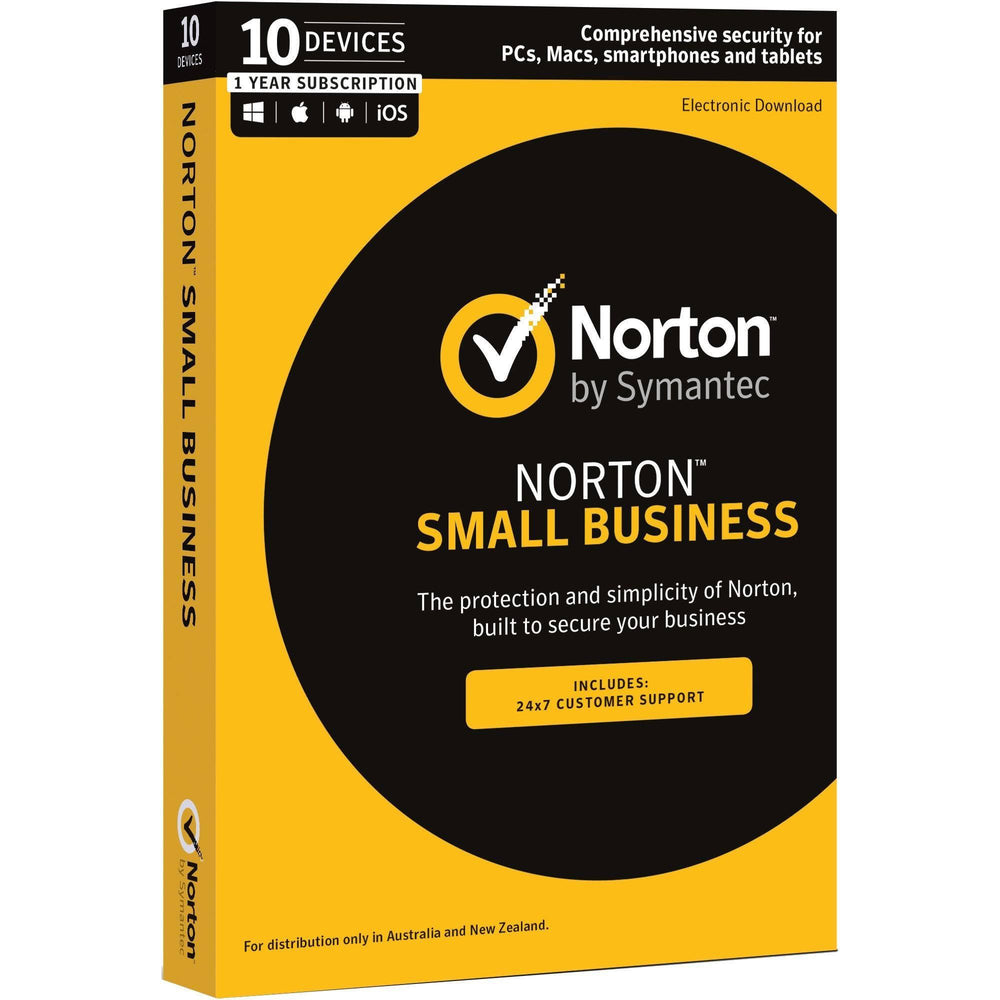 Norton Small Business 1.0 AU 1 User 10 Devices 12 Month Subscription - TechTide