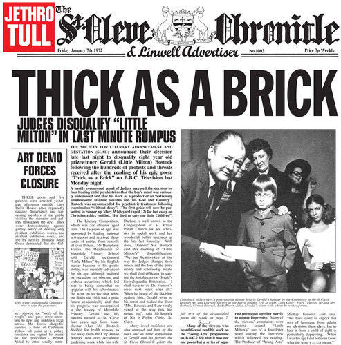 Jethro Tull - Thick As A Brick Album Cover