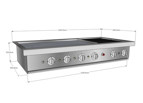 Barbeque A Gourmet 1185 Infresco Hotplate & Open Cast Grill