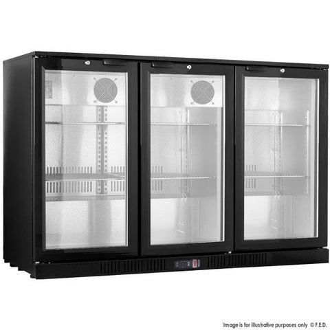 Fridge Alfresco Black Triple door under bench