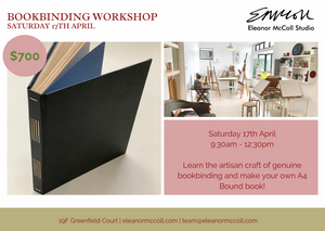 Bookbinding Workshop - A4 bound book with side stitching