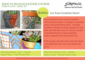 Kids In-Bloom Easter Mosaic Course 29 March - 1 April 2021