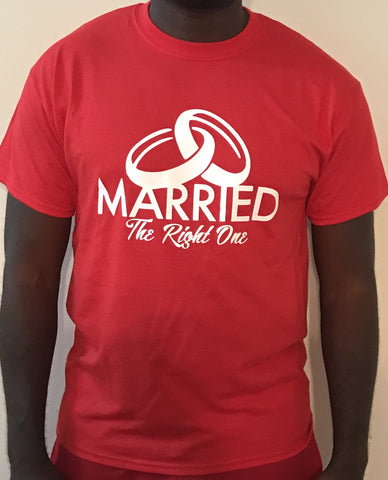 Tee Shirt - Married The Right One  RED