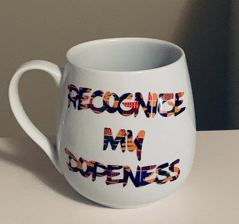 Customized African Print Recognize My Dopeness Coffee Mug