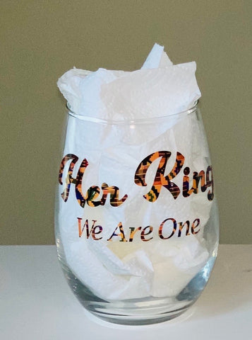 Her King African Print Stemless Glass