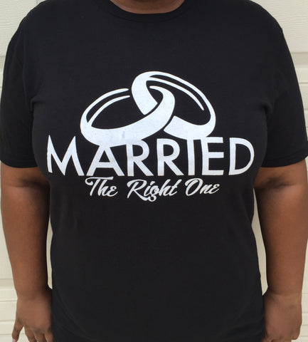 Tee Shirt - Married The Right One BLACK