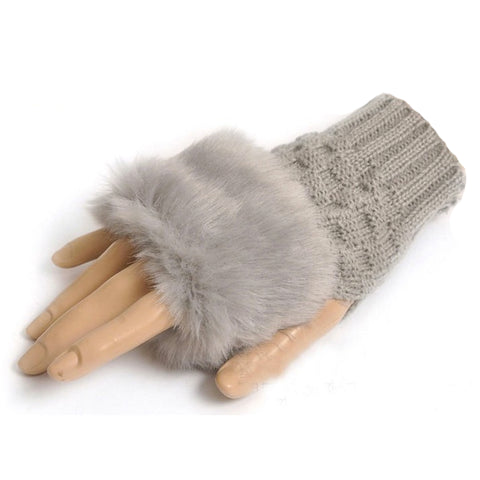 Guantes Fingerless - Gris